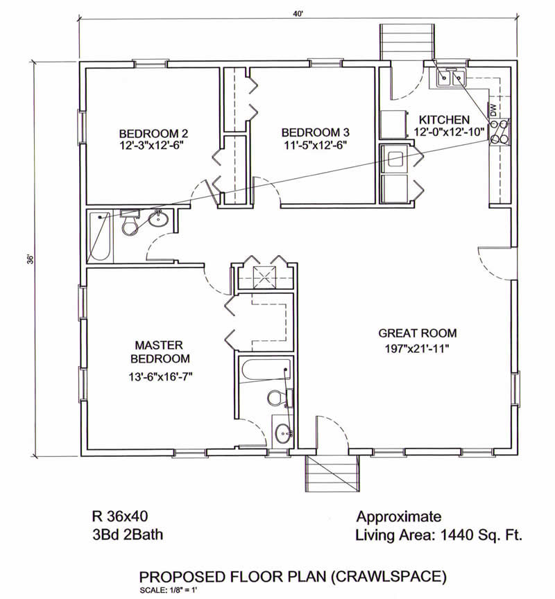 AmeriPanel Homes Of South CarolinaRanch Floor Plans - 40 x 40 house floor plans