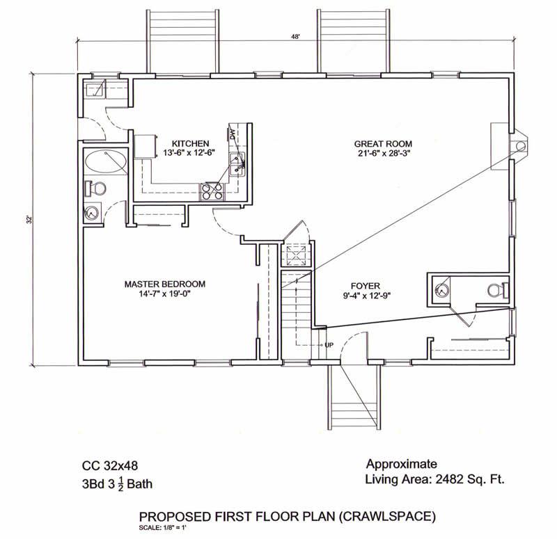 Cod blueprints charming cape house plan 81264w 1st floor for Cape cod house plans with first floor master bedroom
