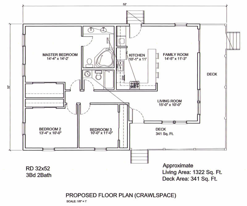 South Carolina-Ranch Floor Plans