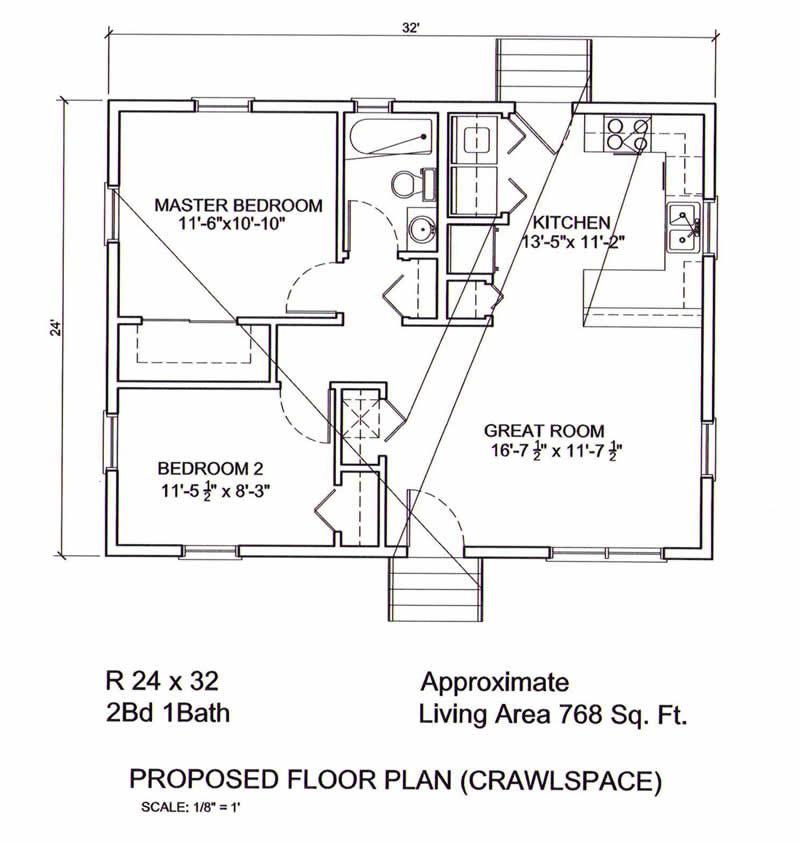 homes main floor log cottage floor plan 24 x32 24x32 floor plan jpg